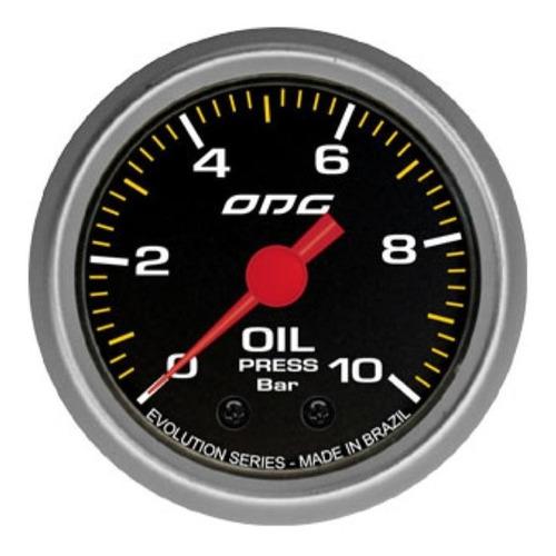 Imagem 1 de 1 de Manometro Oleo 10kg Odg 52mm Evolution