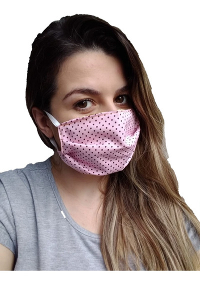 Máscara Protetiva 100% Algodao Tecido - Kit 3pçs Dupla Face
