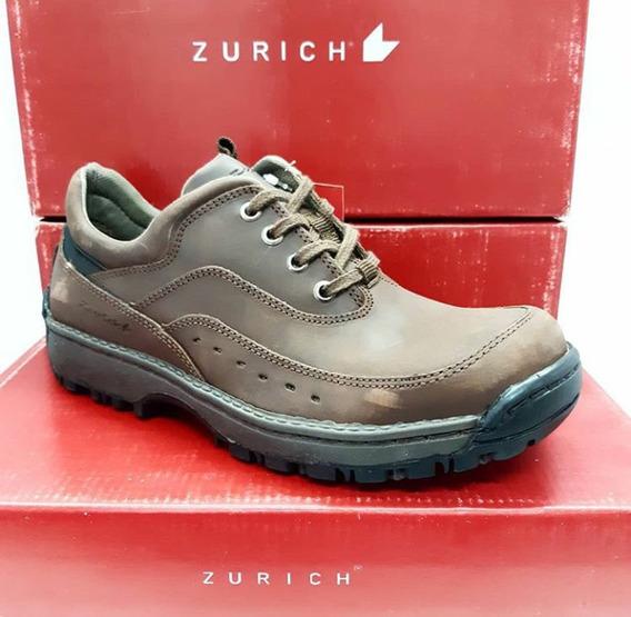 Zapatillas Zurich Marron 205 Hombre Vestir