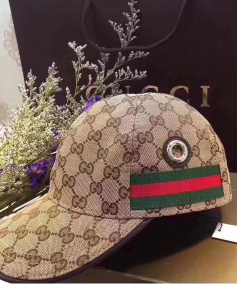 Boné Gucci - Importado - Fecho Em Couro