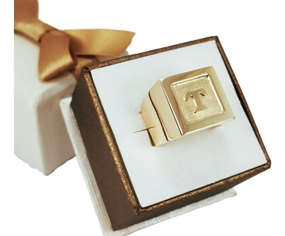 Anel Masculino 10gr Ouro 18k Luxo Top Patrão