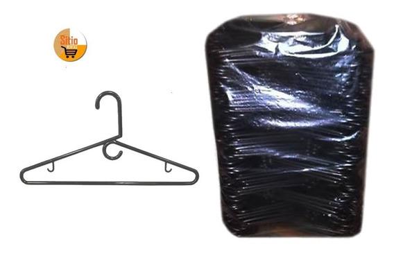 Gancho Plastico Negro Para Colgar Ropa Bulto X 200 Unidades