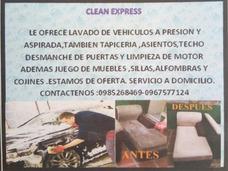Lavado De Vehículos,muebles,sillas,alfombras,cojines.