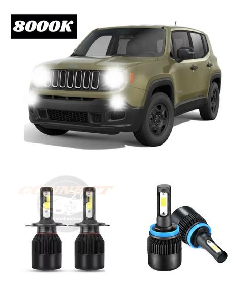 Kit Xenon Ultra Led 20000 Lm Jeep Renegade S/erros 8000k