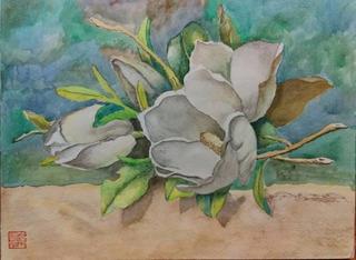 Acuarela Original - Magnolia