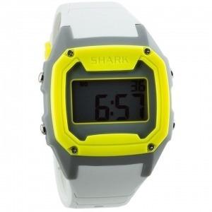 Relógio Pulso Killer Shark Silicon Branco Amarelo Cinza Free