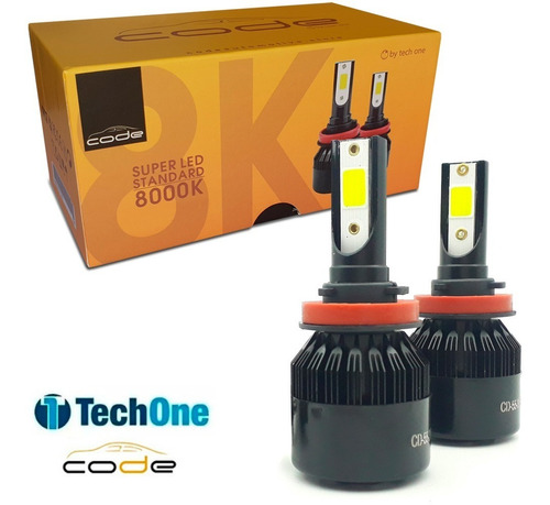 Imagem 1 de 6 de Kit Super Led Techone 12v 24v H1 H3 H4 H7 H8 H11 Hb3 Hb4 H27