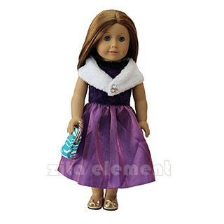 6 Pcs Muñeca American Girl Ropa Y Set Accesorios | Vestido Y