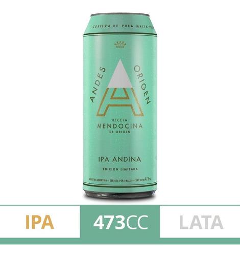 Imagen 1 de 5 de Cerveza Andes Origen Ipa X473