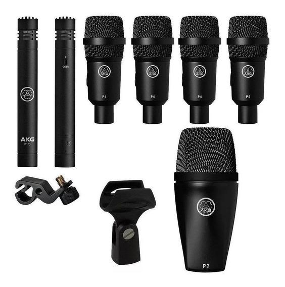 Microfones AKG Drum Set Session I cardióide preto