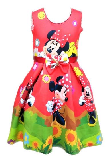 Lindo Vestido Roupa Infantil Menina Temático Festa Barato