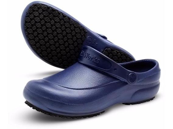 Sapato Calçado Soft Works Profissional Bb60 Azul