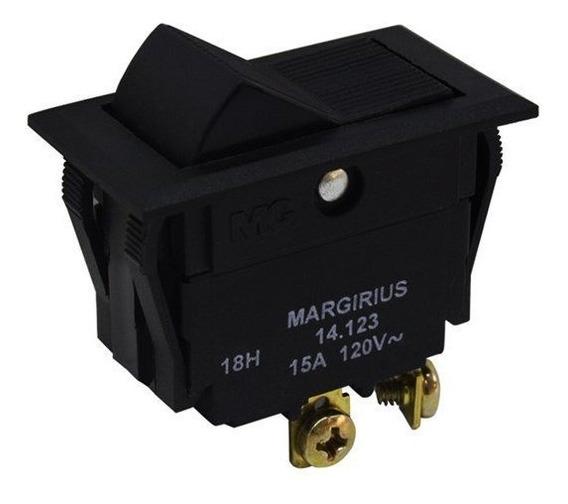 Chave 14123 Interruptor Tecla Unipolar 15a 2 Posições Fixa M