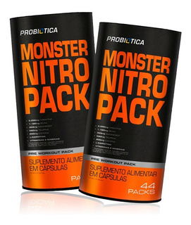 2x Monster Nitro 44 Packs No2 - Probiótica - Multivitaminico