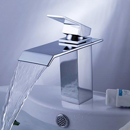 Yodel Single Handle Waterfall Bathroom Vanity Sink Faucet Ch