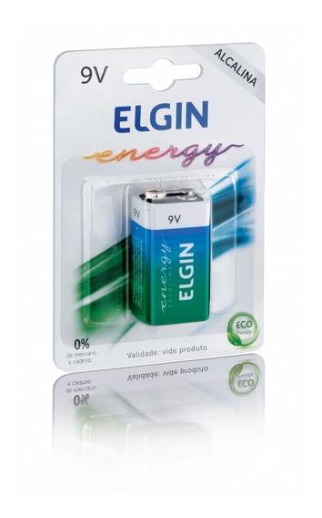 03 Baterias 9v Alcalina - Elgin