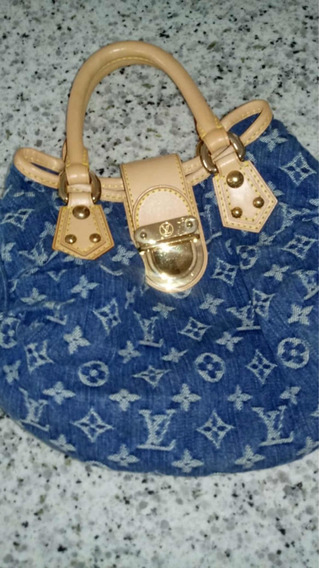 Bolsa Lv (louis Vuitton) Jeans (lv Monogram Denim Pleaty)