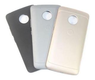 Tampa Traseira Motorola Moto G5 Preto / Cinza / Dourado