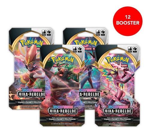 Card Game Pokémon Tcg Ee2 12 Booster Rixa Rebelde Copag