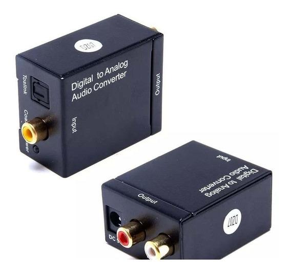 Conversor Áudio Digital Optico Toslink Para Rca Analógico Av