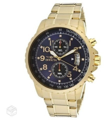Relógio Invicta 13785 Banhado Ouro 18k Novo Box