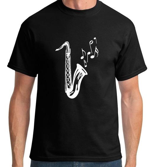 Camiseta Saxofone Masculino