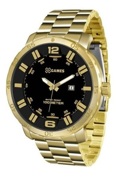 Relógio X Games Masculino Dourado Sport Xmgs1022 P2kx