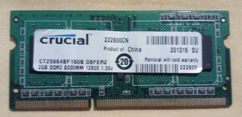 Memoria Ram Kingston Ddr3 2gb Pc3 Kvr1333 Laptop