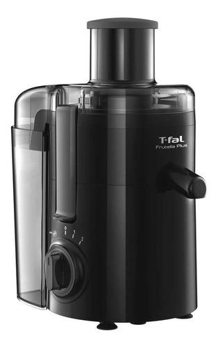 Imagen 1 de 3 de Extractor de jugos T-fal Frutelia Plus negro con accesorios