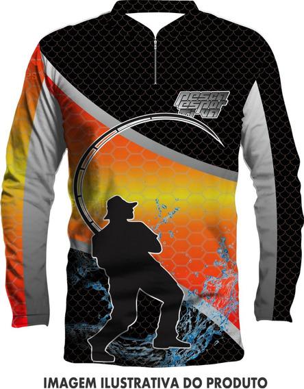 Camisa De Pesca Tucunare Com Proteção Uv+nome Gratis Ref:6