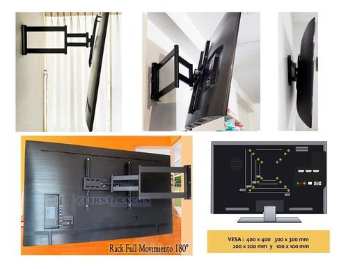 Rack Tv Movil 42, 55 A 65 Led Lcd Curvo Plasma ..resiste 60k