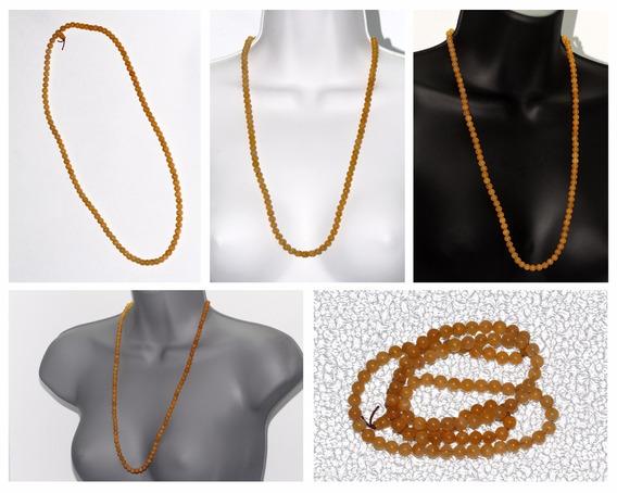 Collar De Piedra Ágata Amarilla Ccpn453