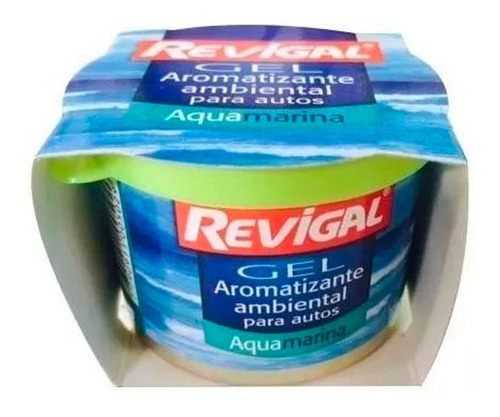 Aromantizante Perfume Gel Auto Interior Aquamarina Revigal
