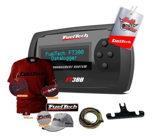 Ft300 Fueltech C/ Chicote+ Mega Brinde Camiseta Bordo Gel Bb