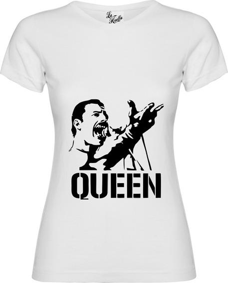 Polera Mujer Queen - Rostro Freddie Mercury / Lho