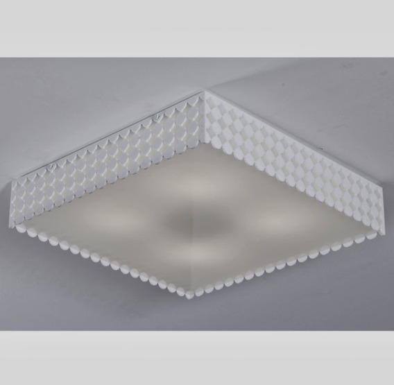 Plafon Acrilico Verona Branco 35cmx35cm - Super Oferta