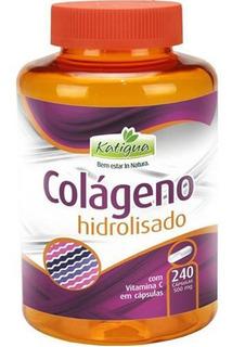 Colágeno Hidrolisado 240 Cápsulas 500mg Vitamina C Katigua