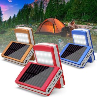 Batería Cargador Linterna Portatil Con Panel Solar