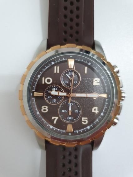 Relógio Marrom Fóssil Impecável