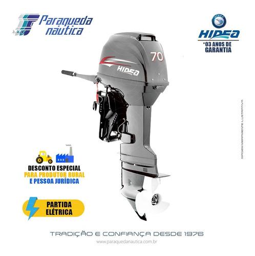 Motor De Popa Hidea 2 Tempos 70hp Ffel-t (partida Elétrica)
