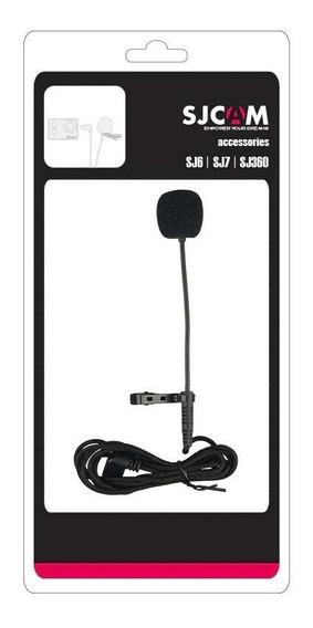 Microfone De Lapela - Mini Usb - Sjcam - Longo