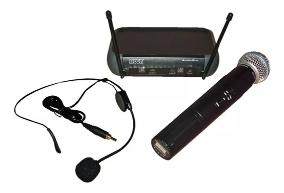 Microfonos Inalámbricos Vincha + Mano Moon Audio Mi01vdmh