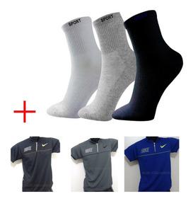 Kit 24 Meias Sport + 1 Camiseta Polo Grátis Melhor Oferta