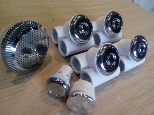 Kit Hidromasaje 4 Jets + Pulsador + Regulador + Filtro Pelos