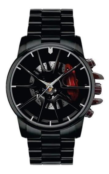 Relógio De Pulso Personalizado Roda Porsche - Cod.perp001