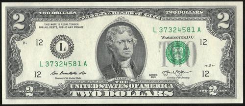Estados Unidos Billete 2 Dollars 2013 Unc P#538 - Argentvs
