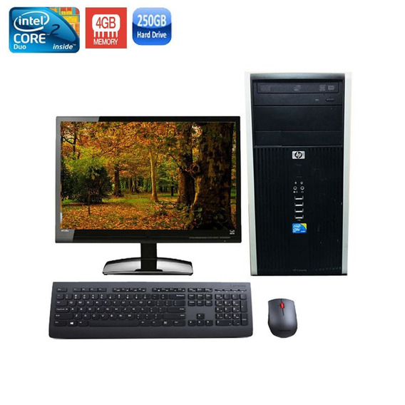 Computador Hp 6000 Core 2 Duo 4gb Hd 250gb + Monitor 18,5