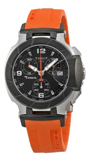 Tissot T Race Chronograph Orange Silicone Ladies Watch T0482