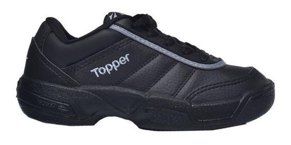 Zapatillas Topper Tie Break Escolar Negras ¡¡envío Gratis!!
