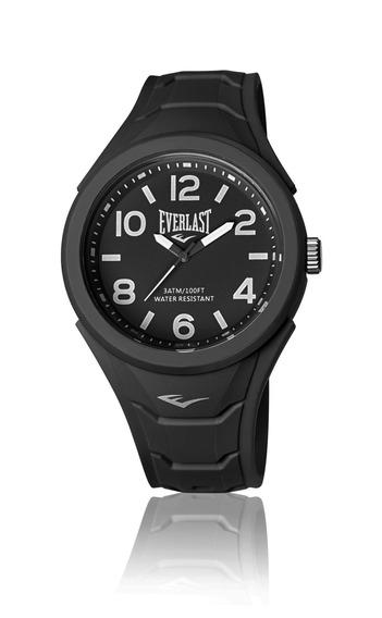 Relógio Masculino Everlast Esporte E705 45mm Silicone Preto